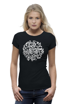 "Футболка Wearcraft Premium ""Long Art"" - графика, футболка женская, символ"