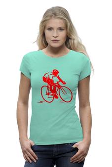 """Футболка Wearcraft Premium """"Велосипедист """" - велосипед"""