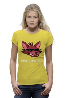 """Футболка Wearcraft Premium (Женская) """"Foxy (Пять ночей у Фредди)"""" - 8-bit, deal with it, пять ночей у фредди, foxy"""