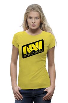 "Футболка Wearcraft Premium ""Natus Vincere Logo (Yellow)"" - игры, dota, dota 2, navi, natus vincere, дота, edward, киберспорт, dendi, markeloff"