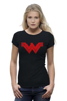 "Футболка Wearcraft Premium ""Чудо женщина"" - wonder woman, batman v superman, на заре справедливости, бэтмен против супермена"