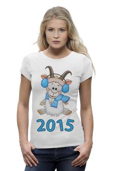 """Футболка Wearcraft Premium (Женская) """"Новый Год 2015 (Овцы, Козы)"""" - новый год, баран, new year, овца, нг, sheep, 2015, коза, козел, goat"""