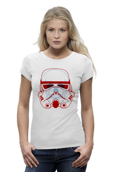 "Футболка Wearcraft Premium ""Имперский штурмовик"" - арт, star wars, штурмовик, череп, звездные войны"