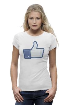 """Футболка Wearcraft Premium """"Лайк (Like)"""" - клево, facebook, фейсбук, большой палкц вверх, мне нравиться"""