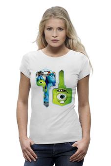 """Футболка Wearcraft Premium (Женская) """"Университет монстров"""" - мультфильм, университет монстров, майк, monsters inc, салли, monsters university"""
