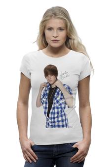 """Футболка Wearcraft Premium """"Justin Bieber"""" - музыка, justin bieber, джастин бибер"""