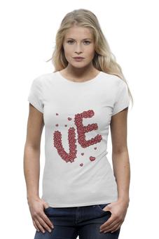 """Футболка Wearcraft Premium """"Love. Парные футболки"""" - сердца, день святого валентина, 14 февраля, для двоих, парные"""