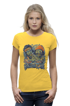 "Футболка Wearcraft Premium (Женская) ""Зомби Хипстеры"" - zombie, зомби, хиппи, хипстеры, hipsters"