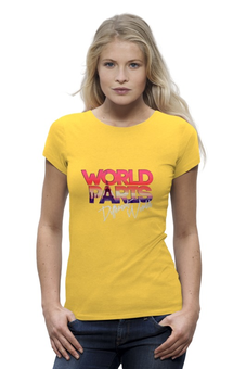"Футболка Wearcraft Premium """"DIFFERENT WORLD"": Paris"" - world, мир, города, paris, париж"