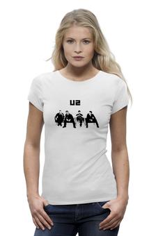 """Футболка Wearcraft Premium (Женская) """"группа """"U2"""""""" - u2"""