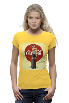 "Футболка Wearcraft Premium ""Coca-Cola"" - эротика, coca cola, реклама, пинап, кока кола"