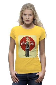 """Футболка Wearcraft Premium (Женская) """"Coca-Cola"""" - эротика, coca cola, реклама, пинап, кока кола"""
