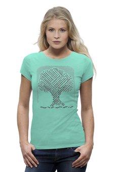 """Футболка Wearcraft Premium """"Экологический слоган-стих о природе и деревьях"""" - любовь, деревья, природа, слова, символ"""