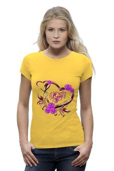 """Футболка Wearcraft Premium """"Любовь"""" - сердце, любовь, валентинка, день св валентина"""