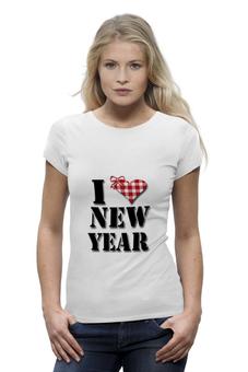 """Футболка Wearcraft Premium """"футболка """"Я люблю Новый Год"""""""" - оригинально"""