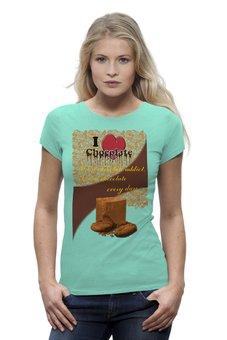 """Футболка Wearcraft Premium """"«Шоколадозависимая»"""" - сердце, коллаж, орнамент, шоколад, шокоголик"""