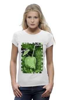 """Футболка Wearcraft Premium """"Яблочный микс"""" - напиток, абстракция, яблоко, фрукт, натюрморт"""