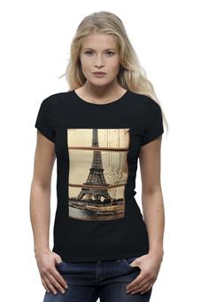 """Футболка Wearcraft Premium """"Эйфелева башня"""" - франция, символ, париж, paris, эйфелева башня"""