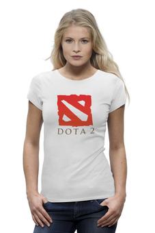 "Футболка Wearcraft Premium (Женская) ""DotA 2"" - valve, dota, дота, dota2, стим, steam, дотка, игромир, задродство"