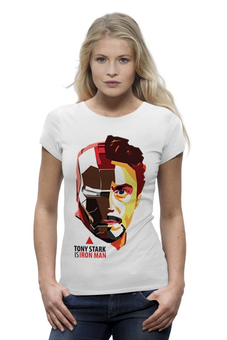 "Футболка Wearcraft Premium ""Tony Stark (Iron Man)"" - железный человек, iron man, tony stark, тони старк"