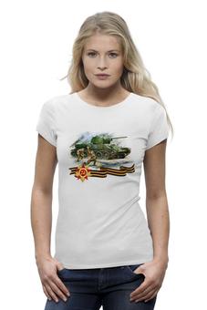 """Футболка Wearcraft Premium """"Танк и пехота"""" - победа, танк, пехота, великая отечественная, солдаты"""