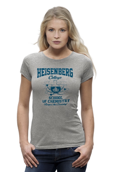 "Футболка Wearcraft Premium ""Heisenberg college"" - во все тяжкие, химия, breaking bad, heisenberg, хайзенберг"