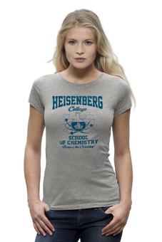 "Футболка Wearcraft Premium (Женская) ""Heisenberg college"" - во все тяжкие, химия, breaking bad, heisenberg, хайзенберг"