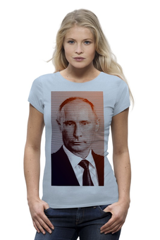 """Футболка Wearcraft Premium (Женская) """"Путин-Арт"""" - россия, путин, президент, кремль, ввп"""