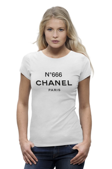 "Футболка Wearcraft Premium ""ChanelN666"" - бренд, париж, 666, парфюм"