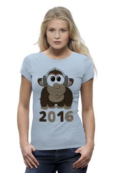 "Футболка Wearcraft Premium (Женская) ""Год обезьяны 2016"" - новый год, new year, monkey, 2016, год обезьяны"