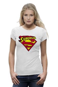 "Футболка Wearcraft Premium ""Супер девушка"" - супермен, girl, superman, super"
