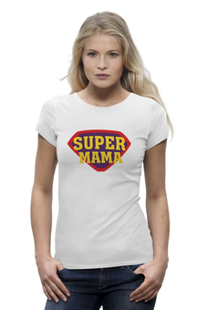 "Футболка Wearcraft Premium (Женская) ""Супер мама"" - супер, супермен, папа, superman, мама"