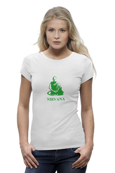 "Футболка Wearcraft Premium ""Nirvana-green"" - nirvana, монах, буддизм, yoga, lingam"
