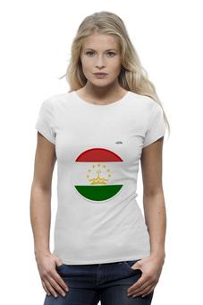 """Футболка Wearcraft Premium """"Флаг Таджикистана"""" - арт, таджикистан, флаг, tajlife"""