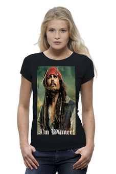 "Футболка Wearcraft Premium ""I'm Winner!"" - джек, джек воробей, jack sparrow, джэк воробей, капитан джек воробей, captain lack sparrow, вероника липатова"