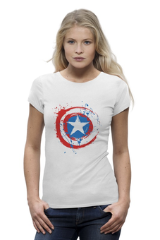 "Футболка Wearcraft Premium ""Капитан Америка (Captain America)"" - marvel, капитан америка, captain america"