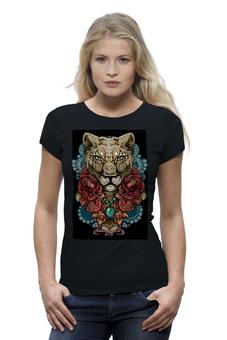 """Футболка Wearcraft Premium """"Mary Makes Dangerous Lioness"""" - кошка, графика, авторский, крутой, оригинальный, розы, львица, новый, самый новый, лимитированный"""