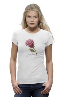 """Футболка Wearcraft Premium """"Цветок роза"""" - арт, цветок, rose, роза, в подарок, девушке, pink rose"""