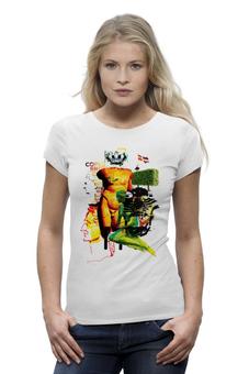 "Футболка Wearcraft Premium ""Copenhagen"" - корона, герб, футболка женская, флаг, слова, символ, копенгаген, дания, давид, русалочка"