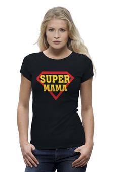 """Футболка Wearcraft Premium """"Супер мама"""" - супер, папа, superman, россия, мама"""