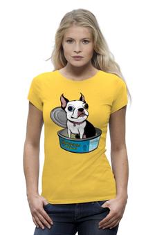 """Футболка Wearcraft Premium """"Моя любимая...Сардинка..."""" - dog, собака, бульдог"""