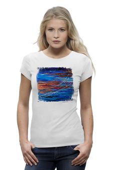 "Футболка Wearcraft Premium ""Mare!"" - арт, лето, романтика, море, оригинально, краски, футболка женская, авторский принт, kosa"