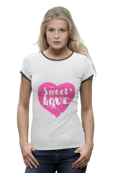 "Футболка Wearcraft Premium ""Sweet love"" - сердце, любовь, heart, sweet love, loves"