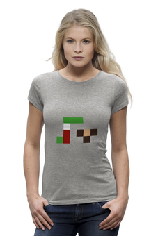"""Футболка Wearcraft Premium """"Гена и чебурашка"""" - pixel, гена, чебурашка, wax, пиксел арт"""