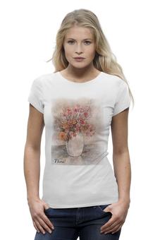 """Футболка Wearcraft Premium """"Flora"""" - арт, авторские майки, оригинально, девушке, футболка женская"""