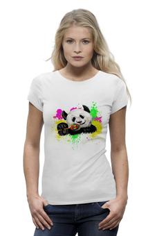 """Футболка Wearcraft Premium """"Радужная панда"""" - панда, ярко, выделяйся, леденец, сладкоежкам"""