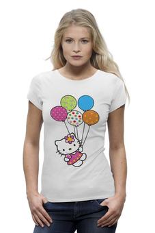 """Футболка Wearcraft Premium """"Hello Kitty (Привет Киска)"""" - котик, кошка, котёнок, воздушные шары"""