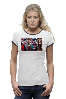 "Футболка Wearcraft Premium ""Harley Quinn Different"" - харли квинн, dc комиксы, арт дизайн, суперзлодейка, отряд самоубийц"