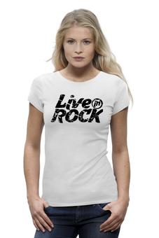 """Футболка Wearcraft Premium """"Футболка LiveInRock"""" - рок, rock"""