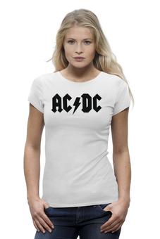 """Футболка Wearcraft Premium """"Женская футболка AC/DC"""" - acdc, асдс"""